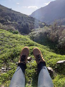 moje buty na trawie odpoczynek