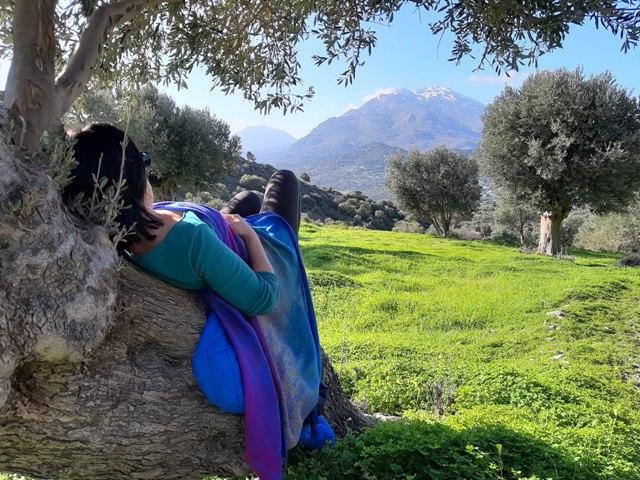 ja na oliwce patrzę na łąki i szczyt kedros