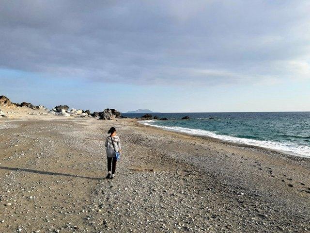 ja na pustej plaży za Ligres